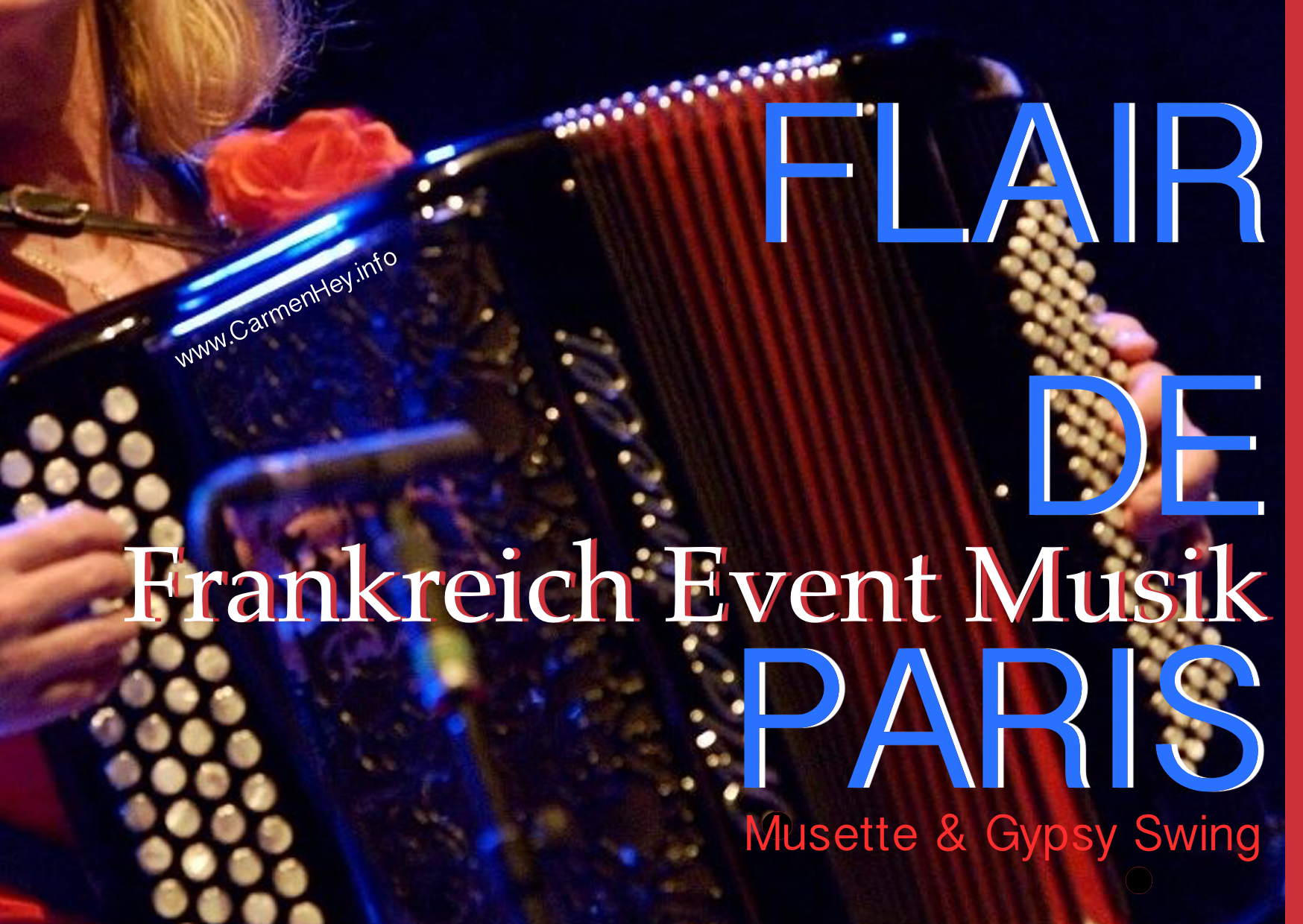 Frankreich Event Musik, Flair de Paris, Berlin, Carmen Hey, Musette & Gypsy Swing